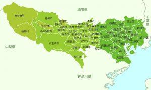 東京の地図
